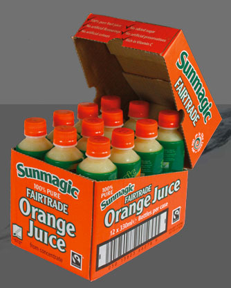Sun Magic fairtrade Orange Juice in Aisacan™