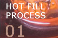 Hot fill process